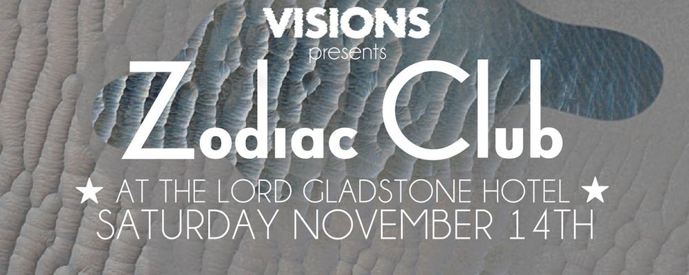 Zodiac Club #3   The Lord Gladstone, 8pm-3am  Your mates at VISIONS have got what you need to keep rolling after At First Sight, with the latest talent on Sydney's psych scene – D'Luna, Montes Jura and Aether Beach, and DJ sets by Deep Sea Arcade, Visions, Lord De Le Motte, Zadiak and Male Gave.  Moneys? Free!