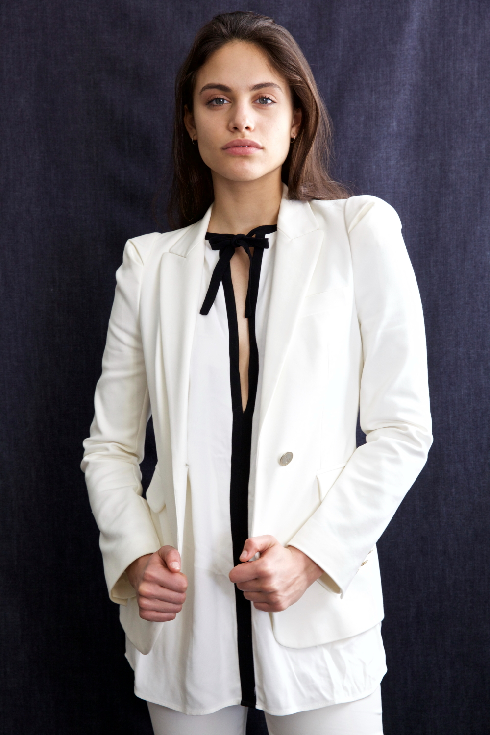 White suit - Zara, Black and white top - Zara,