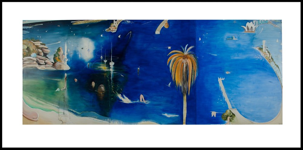 Brett Whiteley, Sydney Harbour to the Spirit of Bill W, 1987 - Commissioned for the Darling Harbour Collection