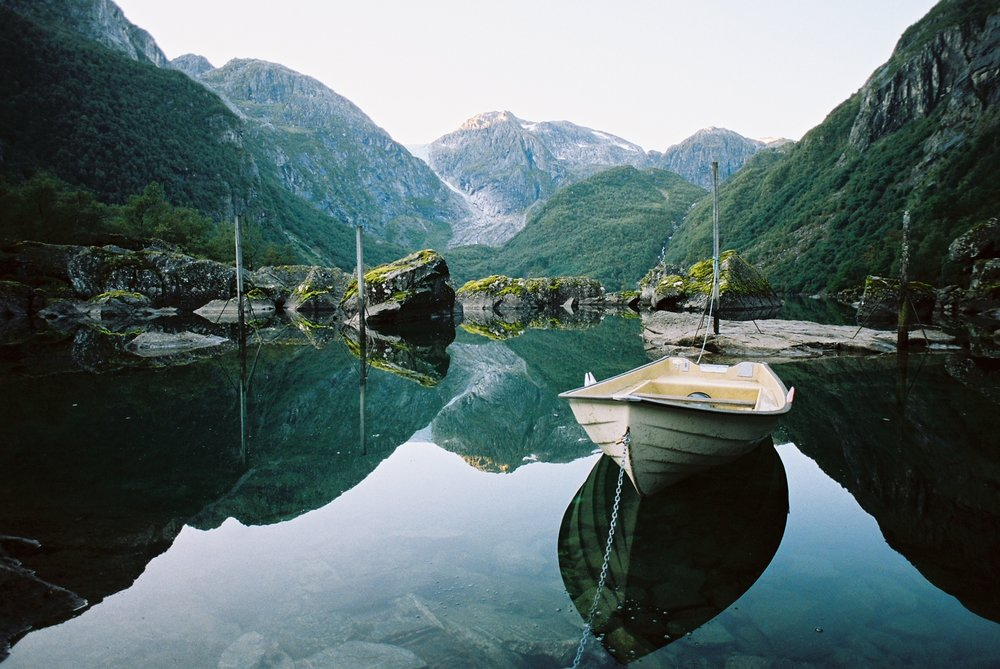 This photo was taken in Odda, Norway using Kodak Portra 160