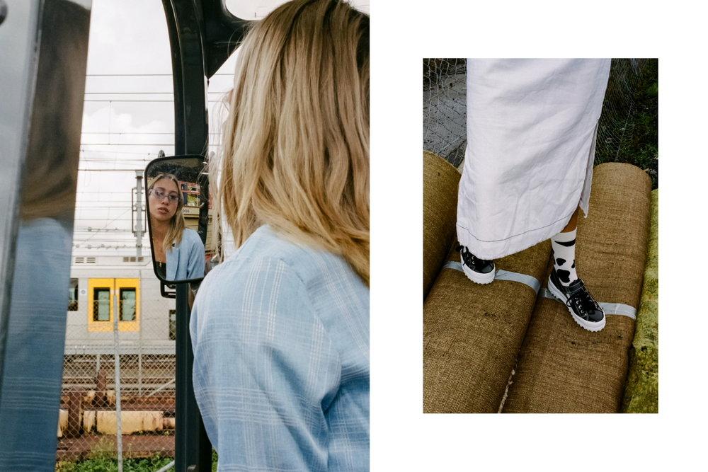 Odd Romance blazer, topshop crop, trelise cooper pants, happysocks, superga shoes, minkpink sunglasses