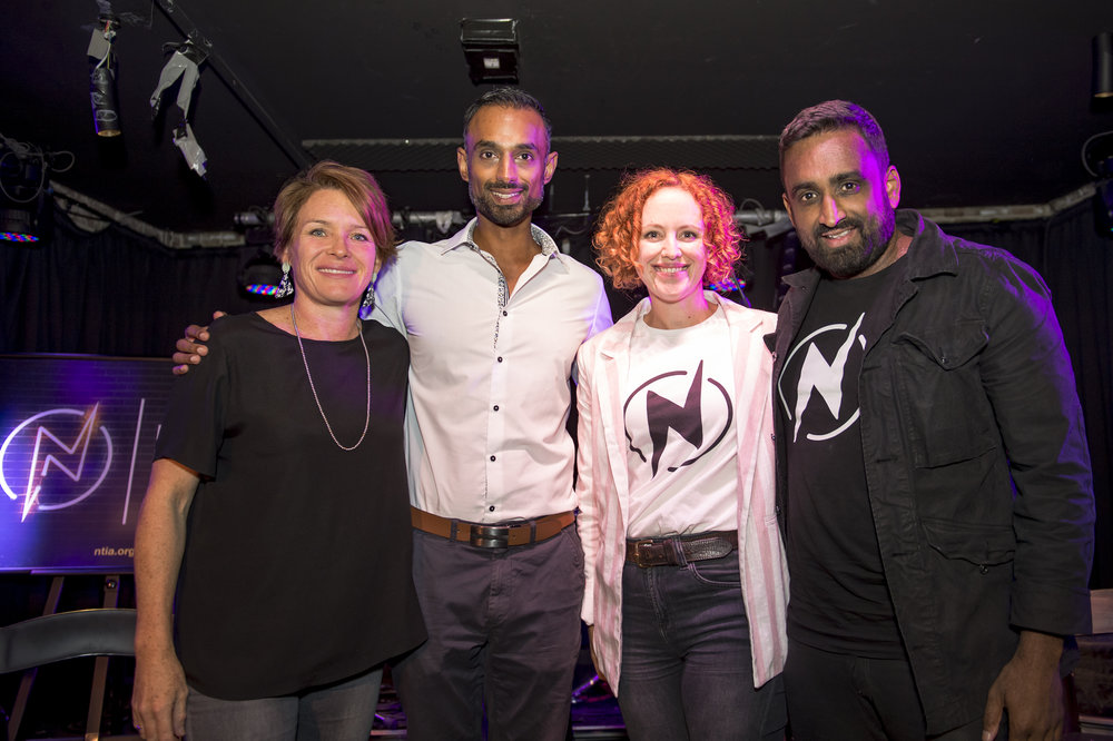 Left to right: Justine Baker, Kamran Ahmed, Kerri Glasscock and Michael Rodrigues. Photo credit  Cassandra Hannagan