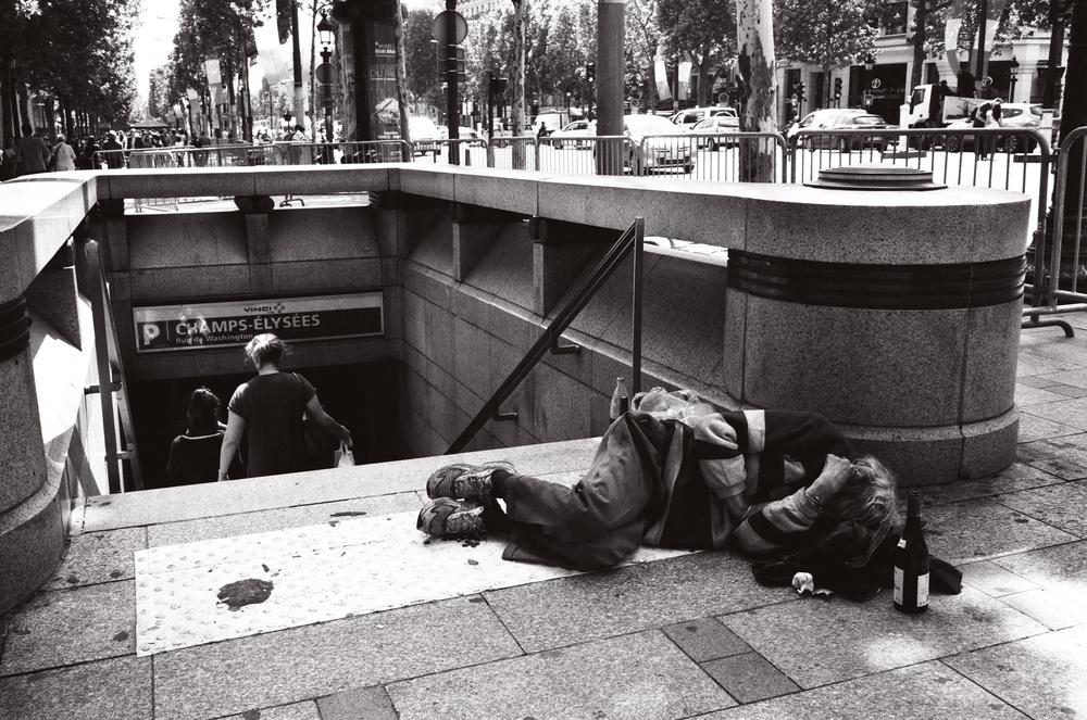 Homeless Person on Champs-Élysées, Paris (2012)
