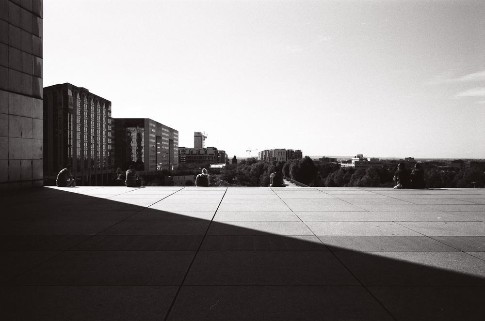 Light and Shadow at the Grande Arche, La Défanse, Paris (2012)