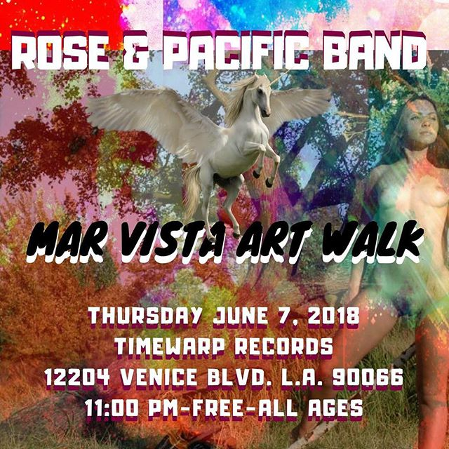 Come out and boogie down with my band this Thursday at 11pm!!! Live at Mar Vista Art Walk Where: TimeWarp Records, 12204 Venice Blvd. Los Angeles 90066 When: Thursday June 7, 2018 11pm-12pm @roseandpacificband #psychedelicrock #psychedelicblues #rock  www.royalpoetrecords.com