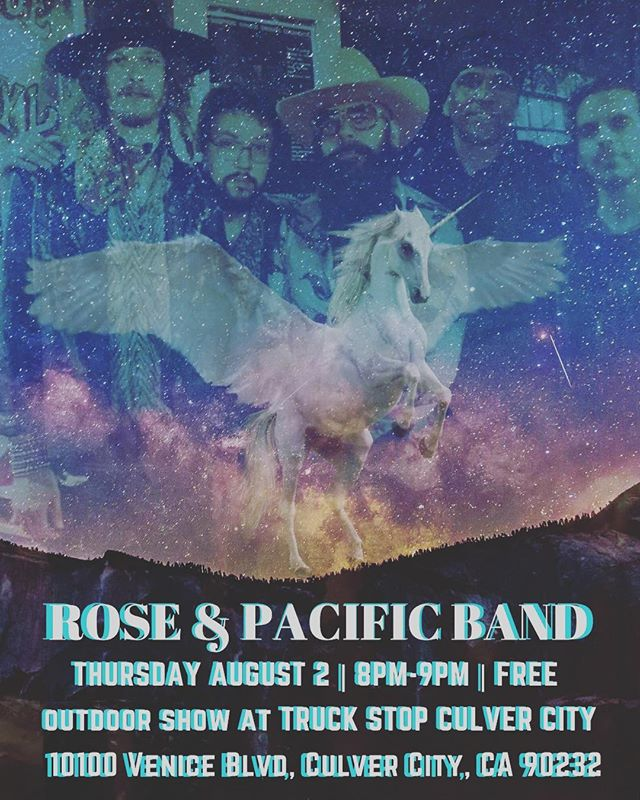🌹🌹🌹🌹🌹🌹THURSDAY AUGUST 2, 8-9pm, @roseandpacificband is performing a free outdoor show @thetruckstop_la Culver City. The address is 10100 Venice blvd. Culver City, CA 90232. Come boogie down  with us... lots of bands and food!