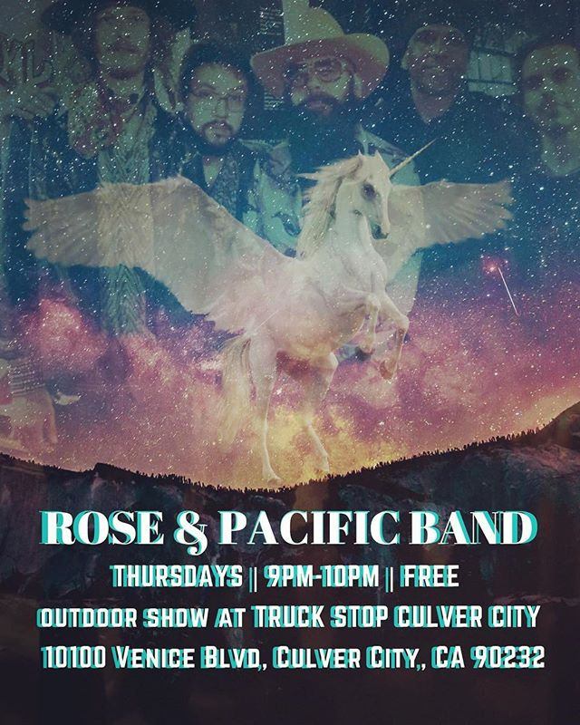 🌹🌹🌹🌹🌹🌹THURSDAY AUGUST 9, 9-10pm, @roseandpacificband is performing a free outdoor show @thetruckstop_la Culver City. The address is 10100 Venice blvd. Culver City, CA 90232. Come boogie down  with us... lots of bands and food!