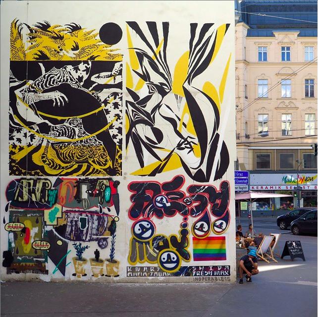 KNARF, SHIDA, MAFIA & FRESH MAX at Margaretenstrasse, Vienna