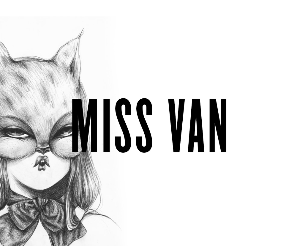 "The infamous Miss Van will finally be coming to Vienna. She will be exhibiting some of her latest works, including paintings, drawings and more. Miss Van will also present her new book ""Twinkles"" and be available for signing."