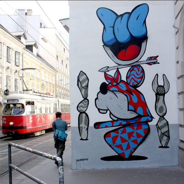 NUMSKULL rotating wall on Siebensterngasse, Vienna Thanks Perfekt World