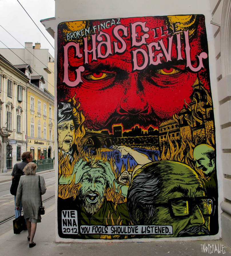 BROKEN FINGAZ  on our rotating wall, Vienna