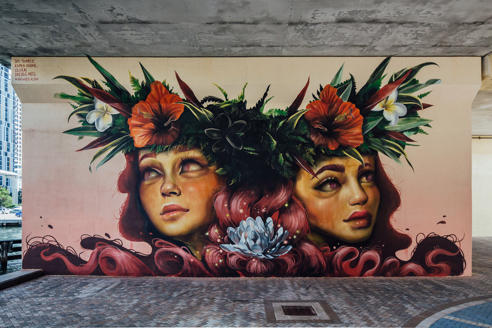Tatiana Suarez & Kamea Hadar   curated by INOPERAbLE for   D  redge Arts  , Miami, FL    Thank you Olukai and Miami River Commission. Photo by  Diana Larrea