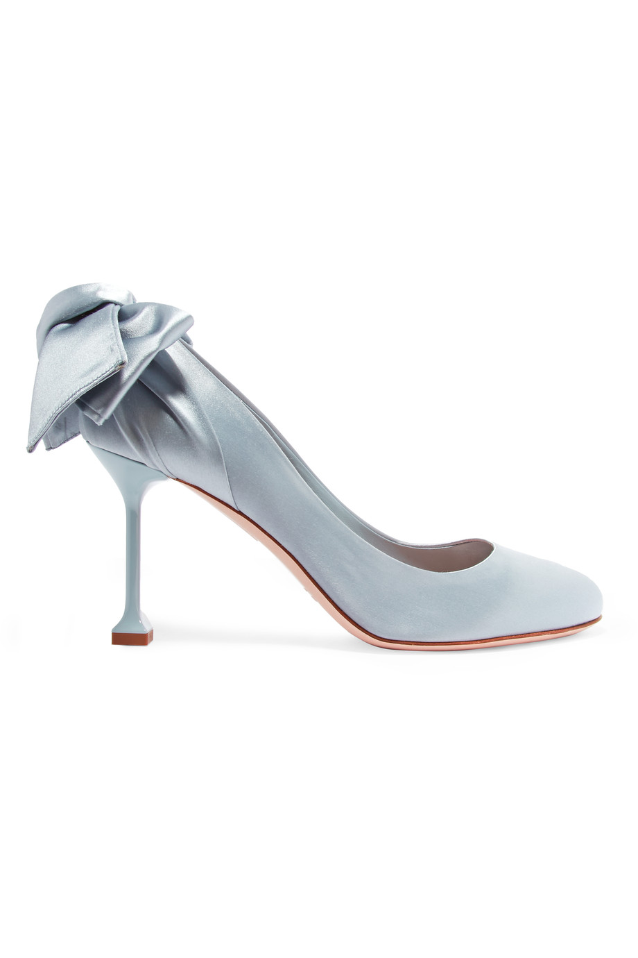 Miu Miu: Bow embellished satin pumps