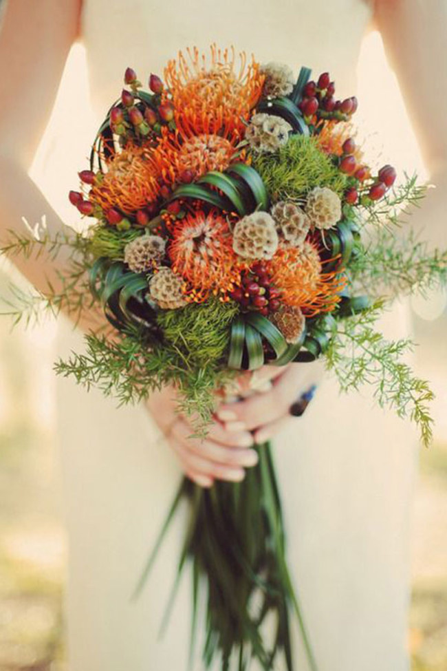 Autumn bridal bouquet inspiration (image sourced from Pinterest)