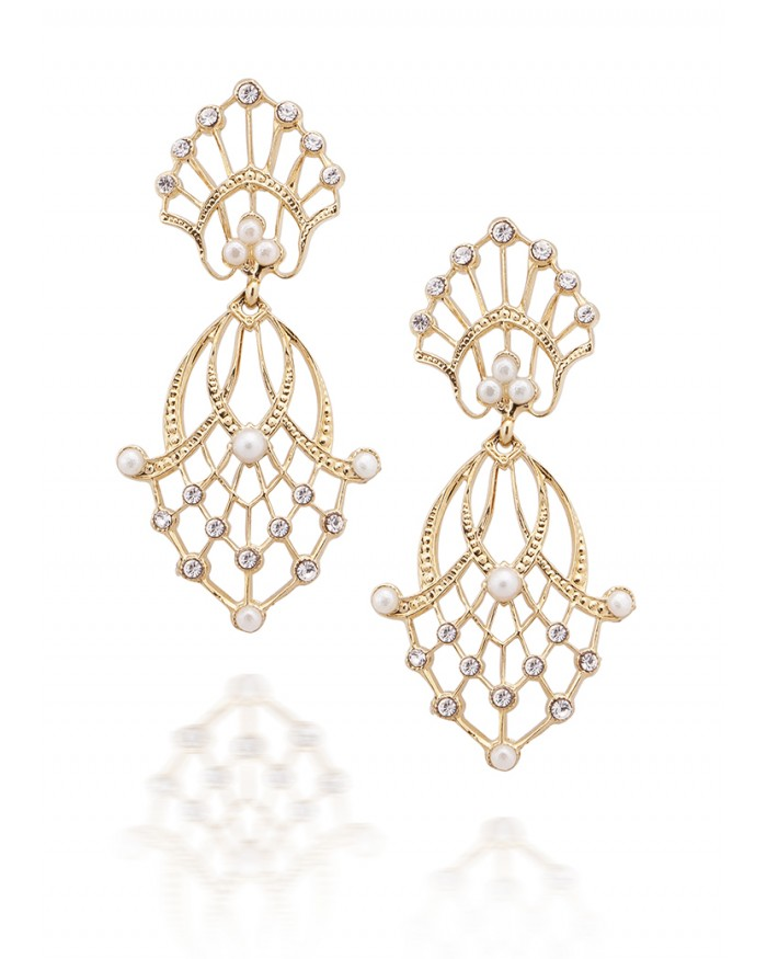 Keren Wolf: Double lace pendant earrings