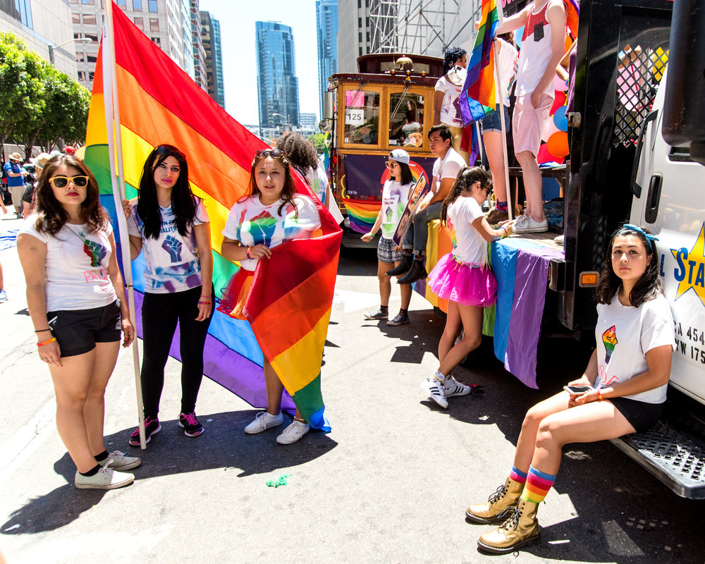 Next Generation Scholars, an organization which works to activate equal access to higher education, created a float for and participated in the San Francisco Gay Pride Parade in 2016. NGS is one of many organizations which take part in the parade each year.