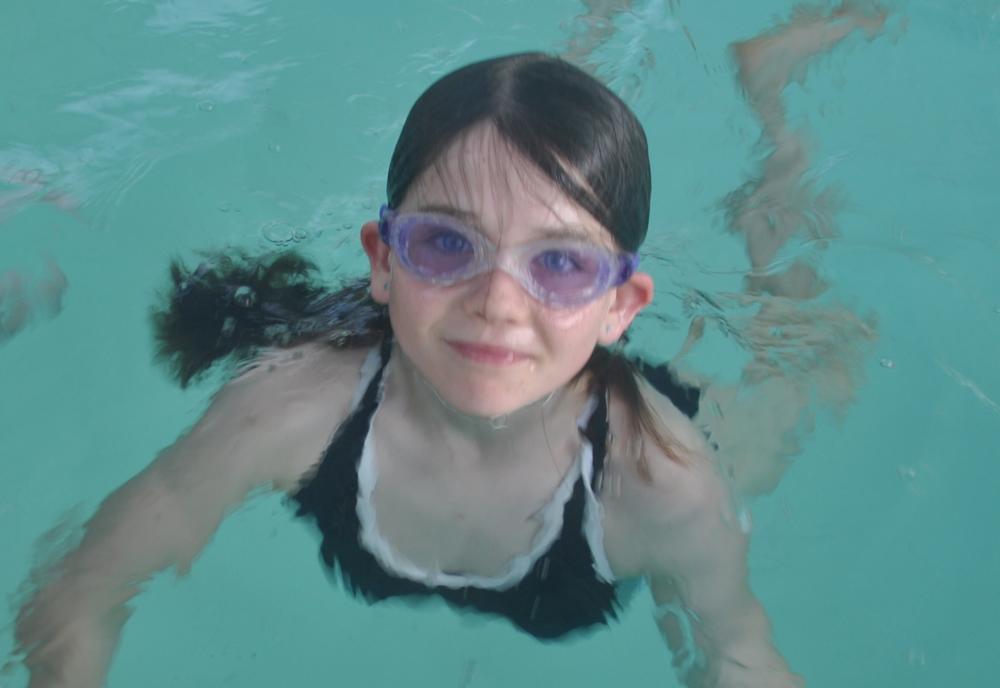 Enjoying her swim
