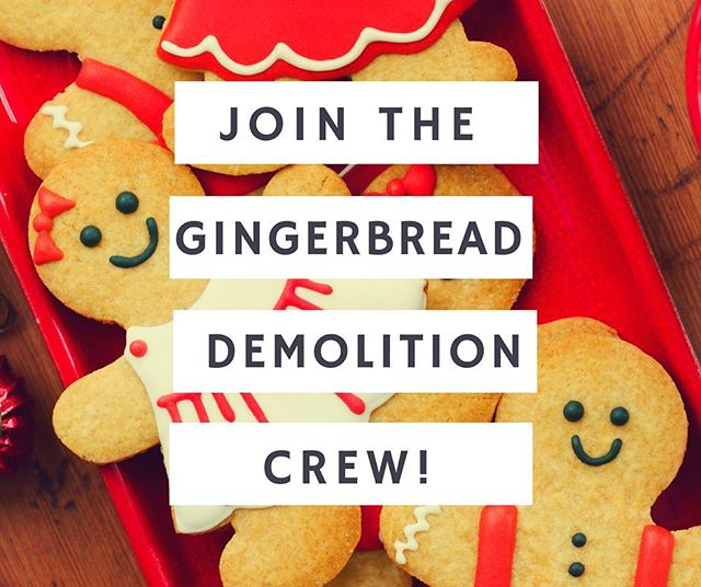 The search is on! We are looking for 3 x new additions to the 2017 volunteer Demolition Crew.  Our awesome team has three purposes. 1. Create an amazing event experience in December. 2. Find creative ways to passionately support our cause - @savechildrenaus. 3. Have heaps of fun (and eat lots of gingerbread). We're looking for people with skills in social media, design, fundraising, operations or event management. Please email gingerbreaddemolition@gmail.com if you're interested!