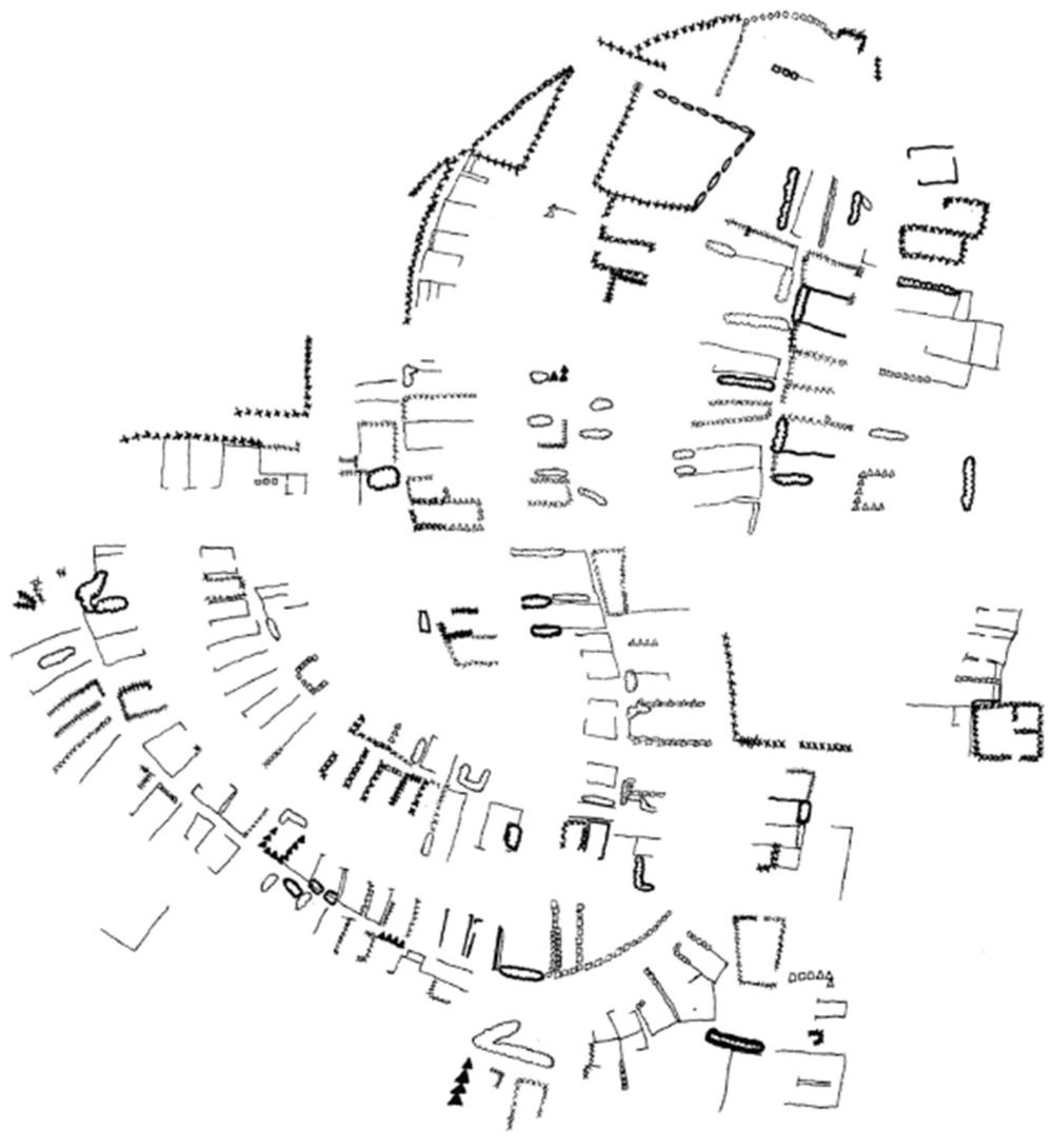 Fences, map by Helen Waldrop
