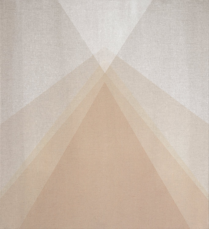Stream. 2015. Rock-powder-pigment-on-linen. 22x24 Inches.