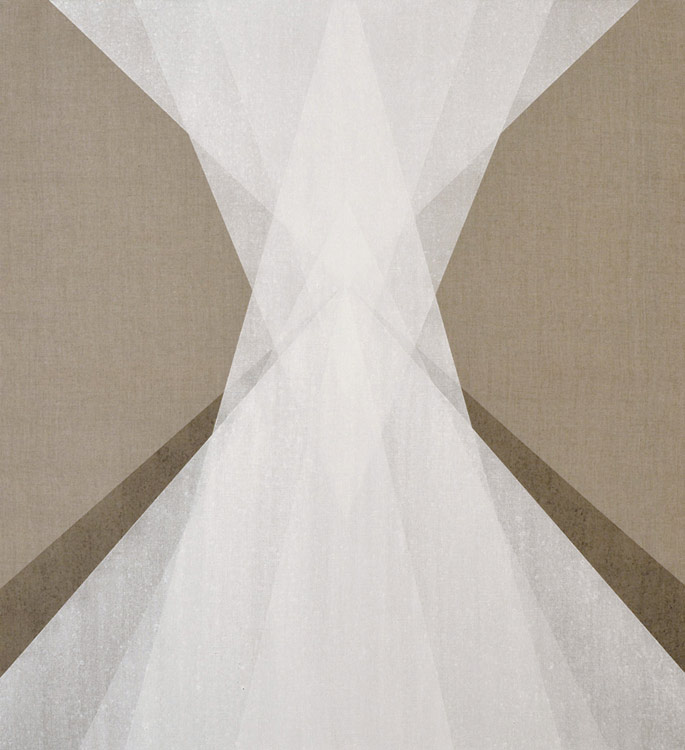 Influx. 2014. Powdered Quartz and Ash on Linen. 33x36 Inches.