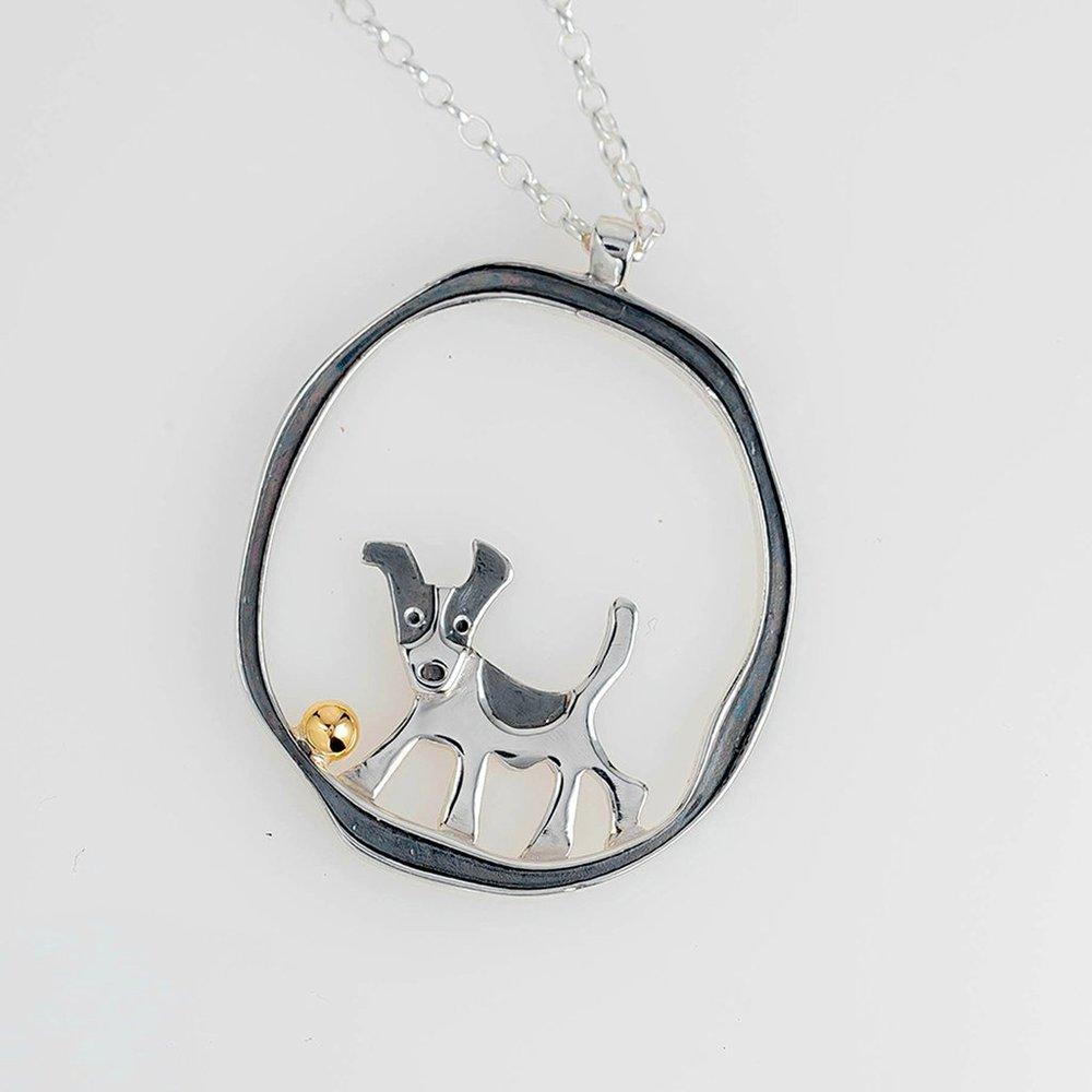 Jack Russel Terrier Pendant  by Saba