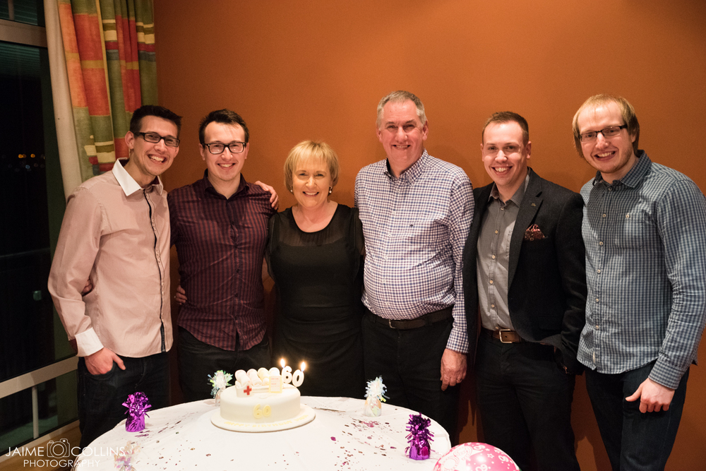 Jason (the eldest), Gavin (my twin), mum, dad, Ryan (the second eldest) and myself all posing for a group shot