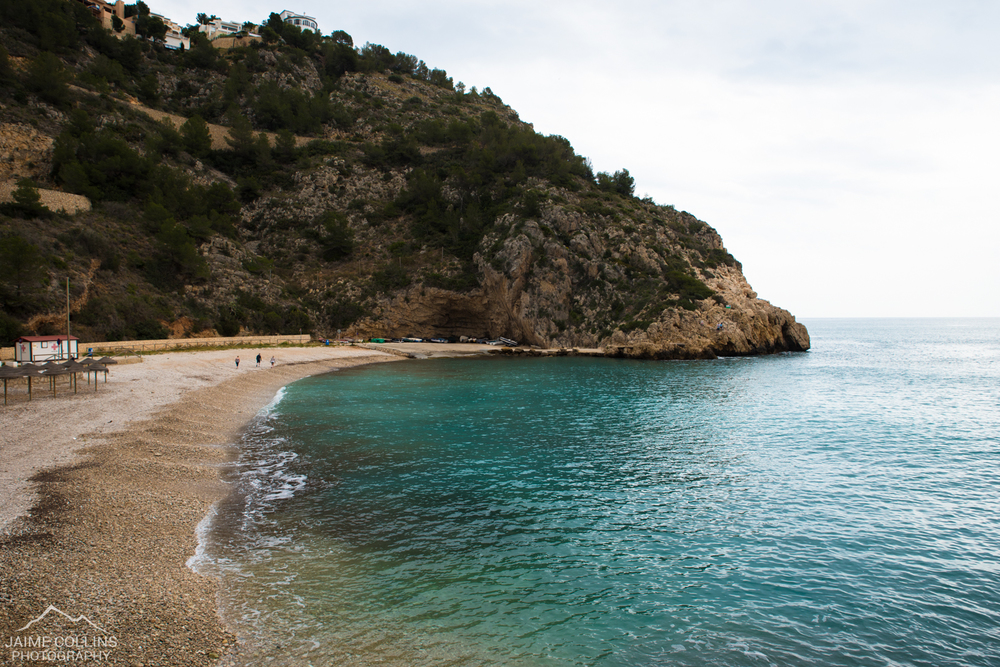 La Granadella beach - when we decided to go for a drive