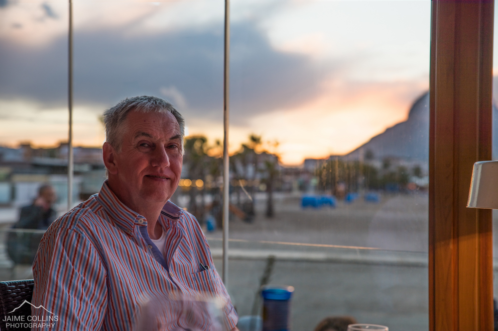 My dad enjoying dinner with a view