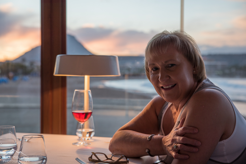 My mum - also enjoying dinner with a view