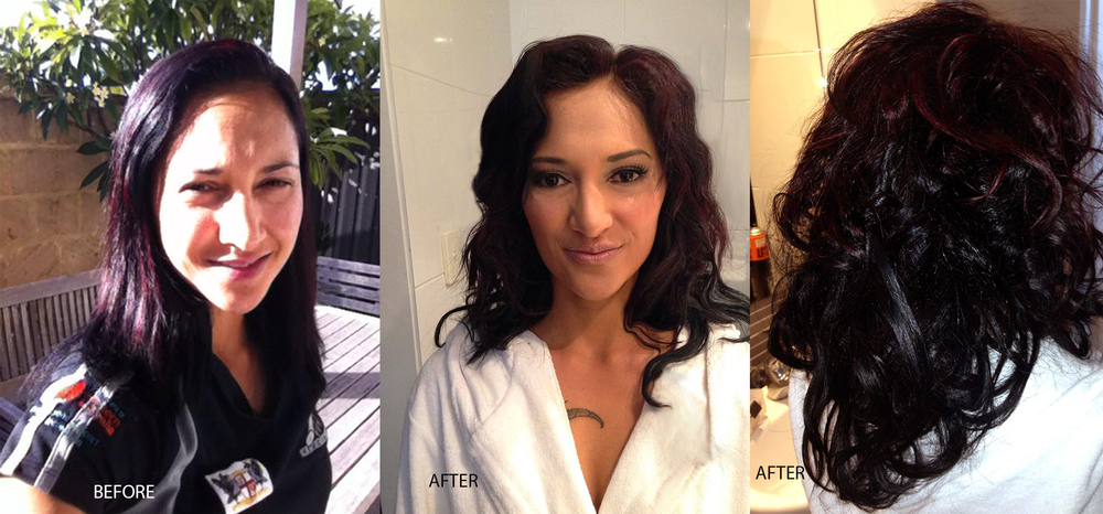 perth makeup artist before after jellis beauty fitness model