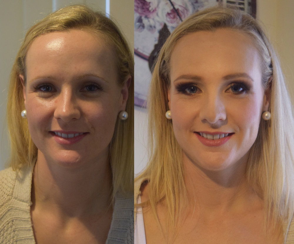 perth makeup artist before after blonde