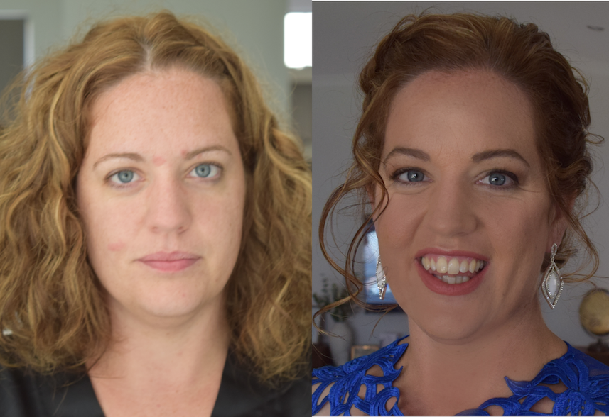 before after bridal makeup jellis beauty perth