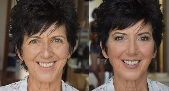 We loved dolling up beautiful mother of the bride, Suzy. She requested a natural look, with a bit of definition around the eyes as she wears glasses. We appreciated her taking care us of and making sure we had enough water and food all day. Such a thoughtful lady. #beforeandafter #jellisbeauty