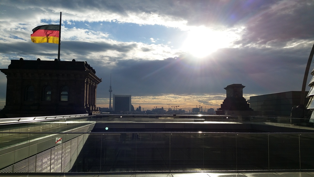 View from the roof of the Reichstag