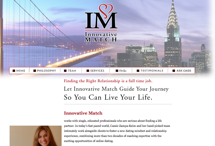 Revamped Website for Luxury Matchmaker