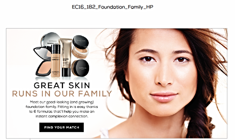 bareMinerals® Foundation Family Campaign