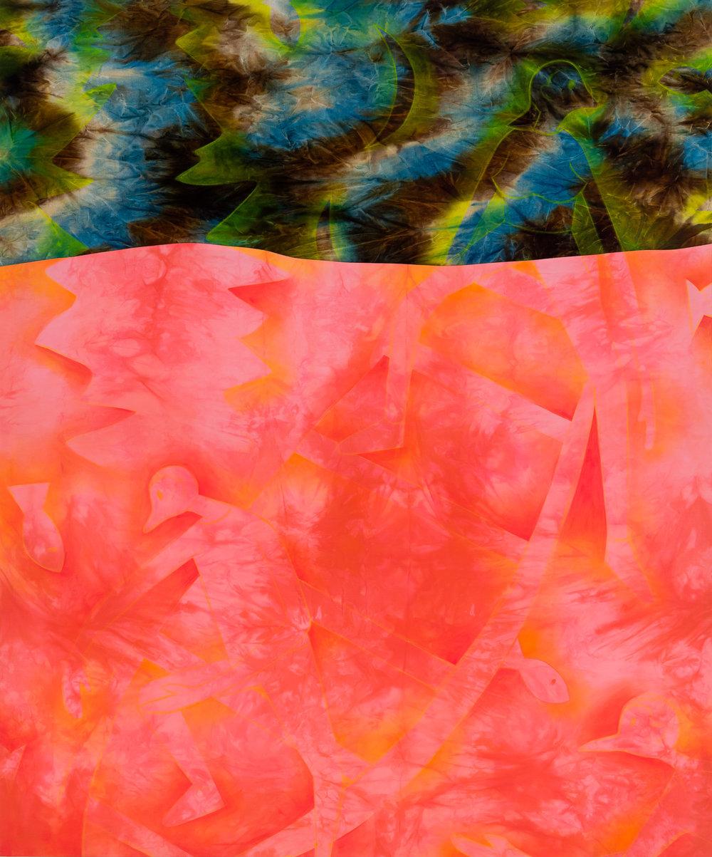 2017, acrylic on fabric, 72x60 in