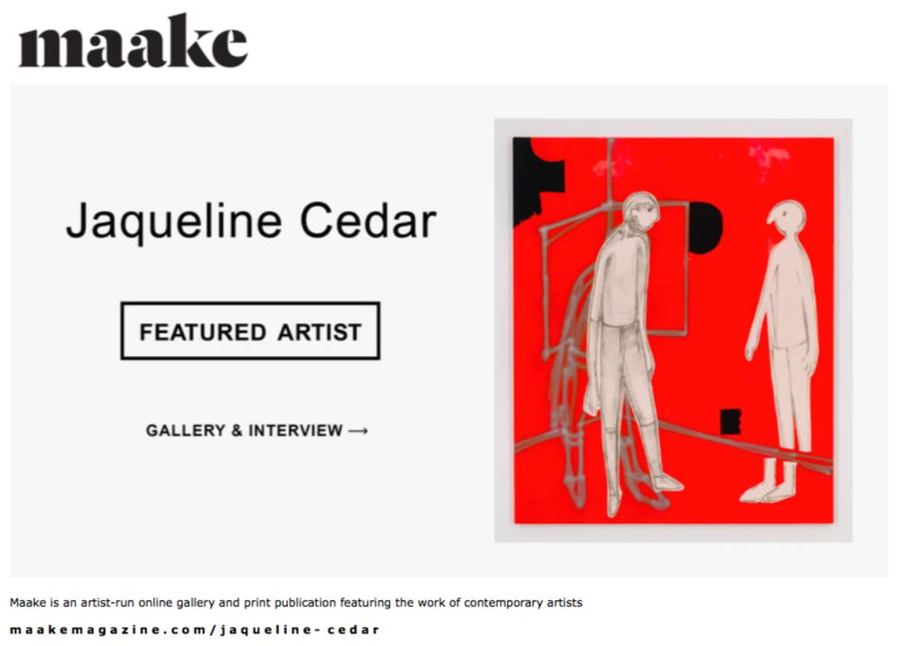 Featured in  Maake Magazine  /Artist Spotlight / May 2017