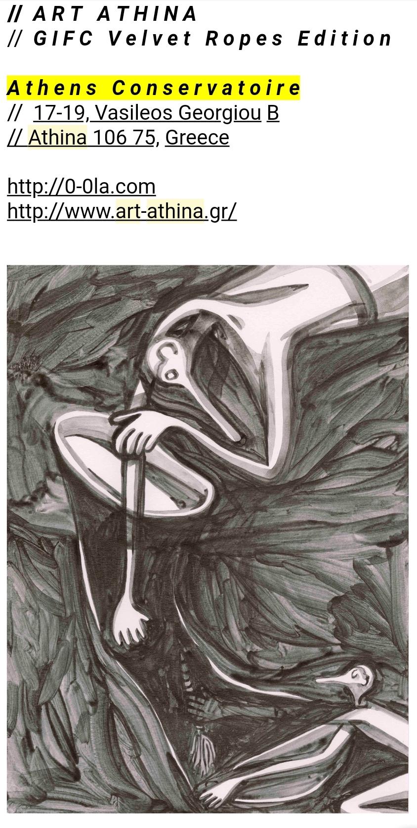 VELVET ROPES    ART ATHINA    JUNE 20-24  Athens, Greece   http://www.art-athina.gr/