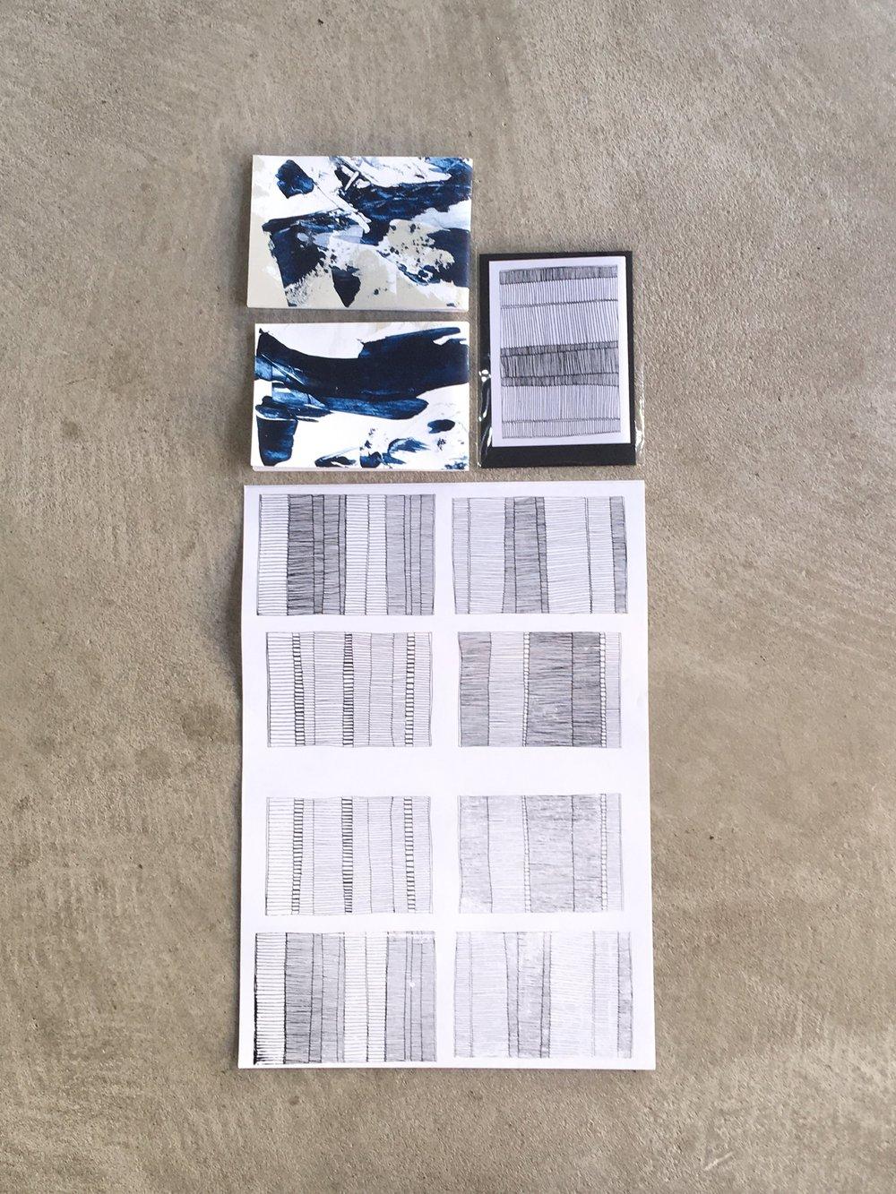 PAPER CREATIONS _ LINE DRAWINGS - hand drawn and screenprinted // PAPIERKREATIONEN - LINIENZEICHNUNGEN handgezeichnet und gedruckt