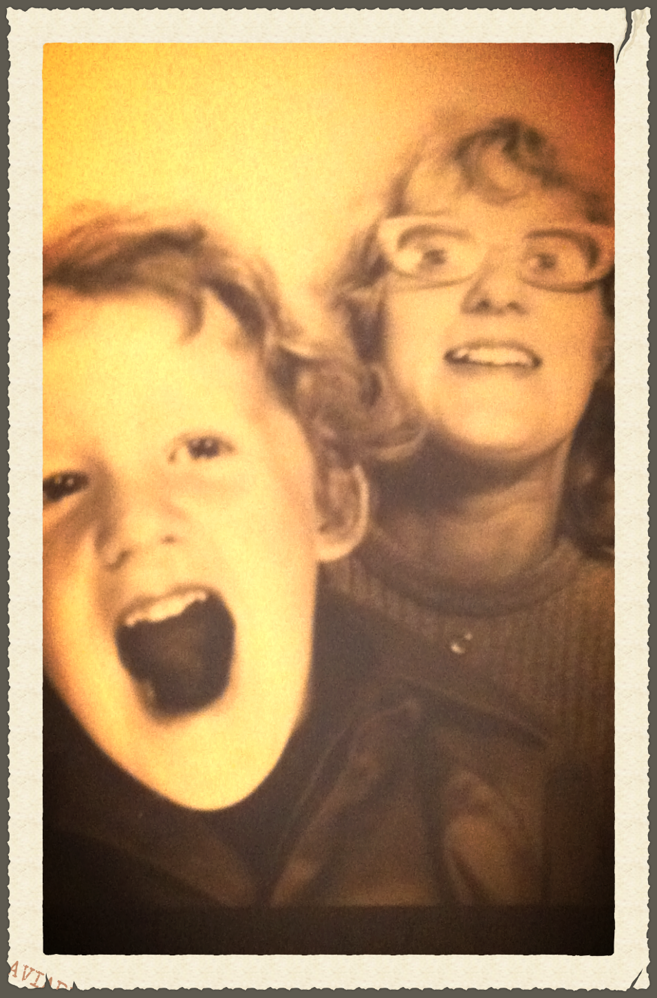 Me and mum.  A LONG time ago.