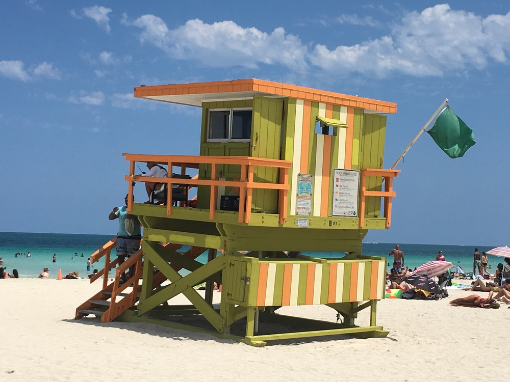 Actual lifeguard hut. South Beach, Miami, Fl