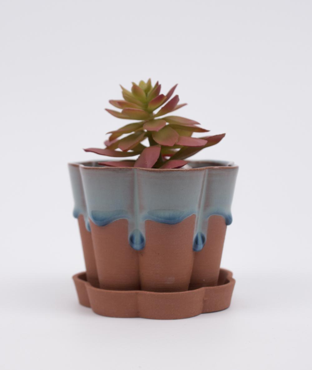 Small Geometric Drip Planter