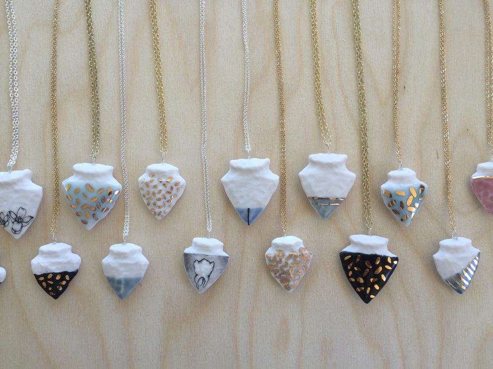 Porcelain Pendants - One of a Kind
