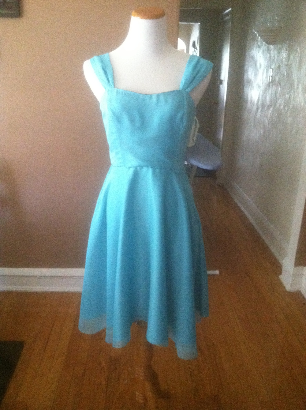 Aqua bridesmaid's dress 2
