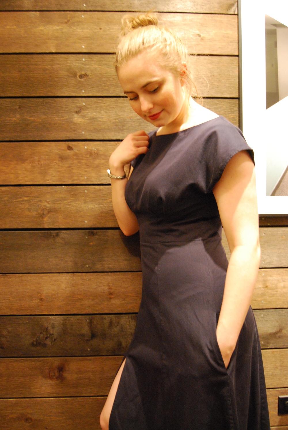 Navy blue anna dress 2
