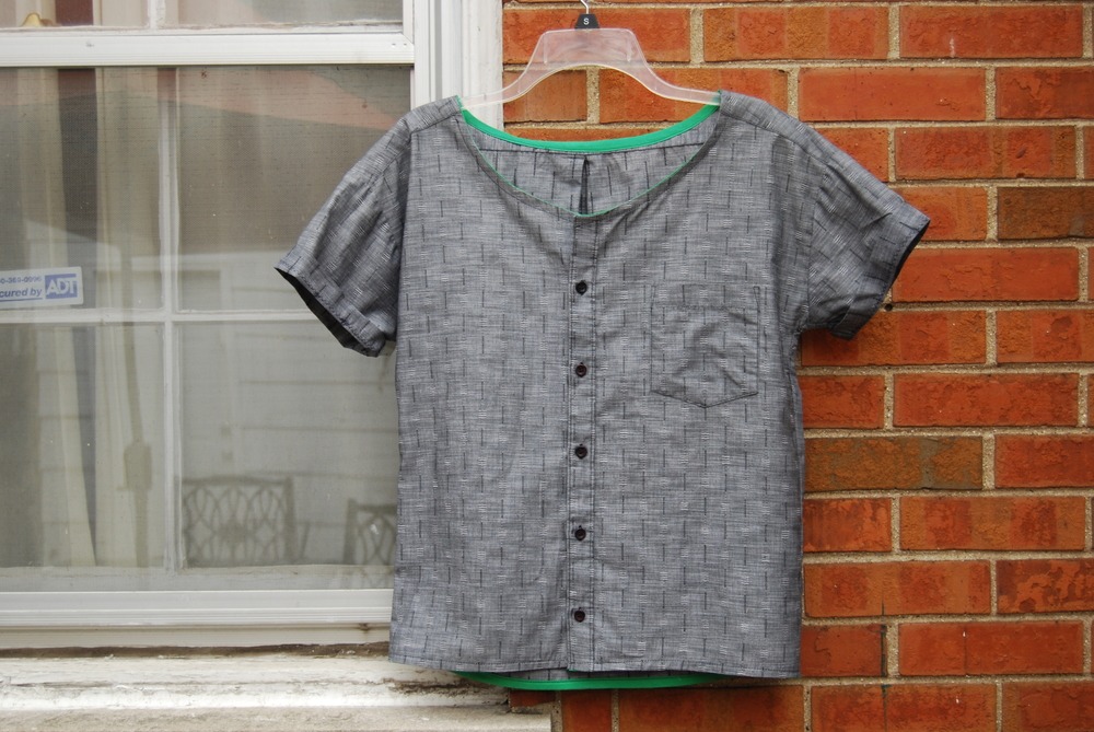 Gray Dress Shirt Refashion Upcycle