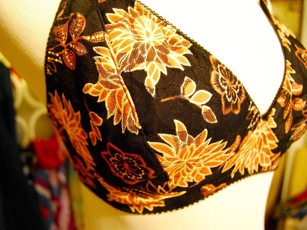 Black Orange Lace Watson Bra