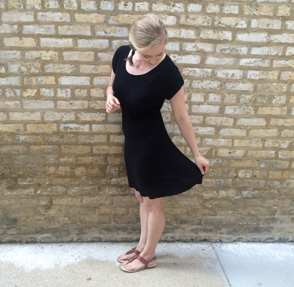 Black Organic Bamboo Knit Dress